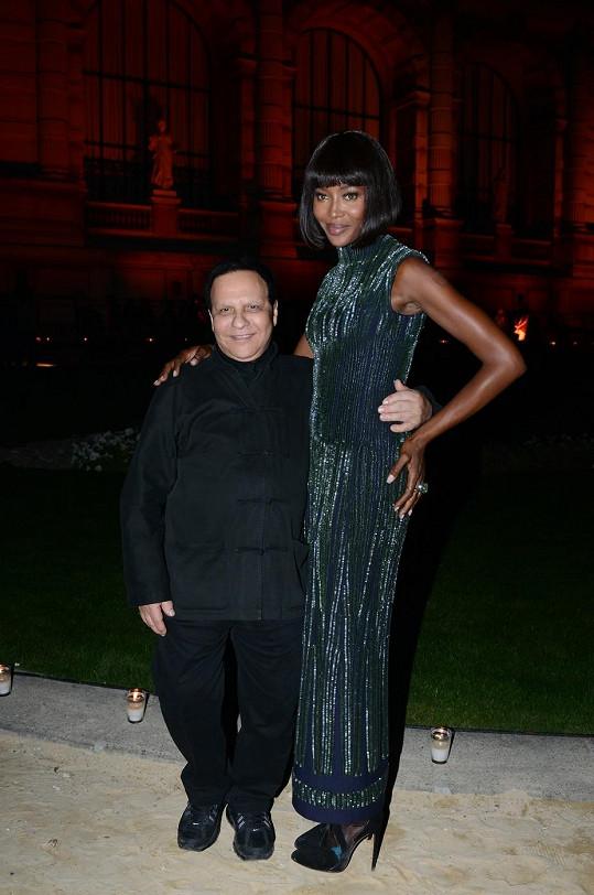 Naomi Campbell a Azzedine Alaia