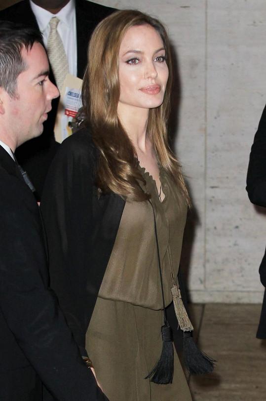 Angelina Jolie promluvila o statečné Pákistánce, která bojuje za práva žen na vzdělání.