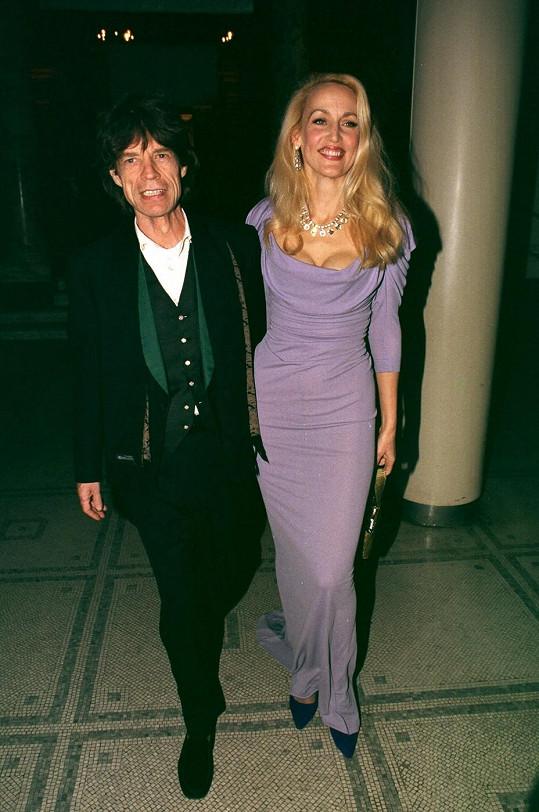 Bývalí manželé Mick Jagger s Jerry Hall.