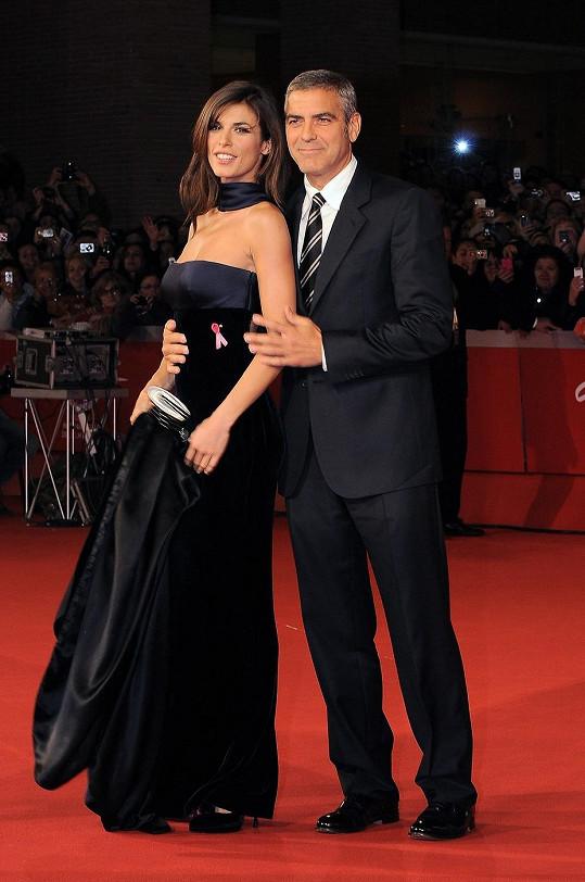 Elisabetta v době, kdy chodila s Georgem Clooneym.