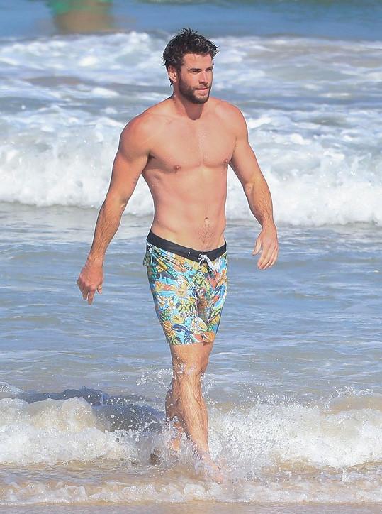 I Liam ukázal své svaly.