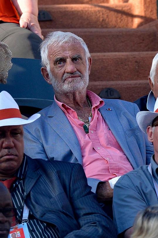 Jean-Paul Belmondo na Roland Garros nesměl chybět.