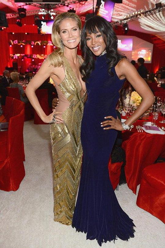 Heidi Klum se na akci potkala s Naomi Campbell.