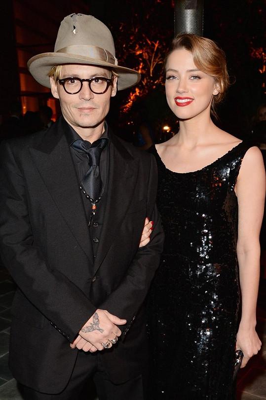 Johnny Depp se snoubenkou Amber Heard