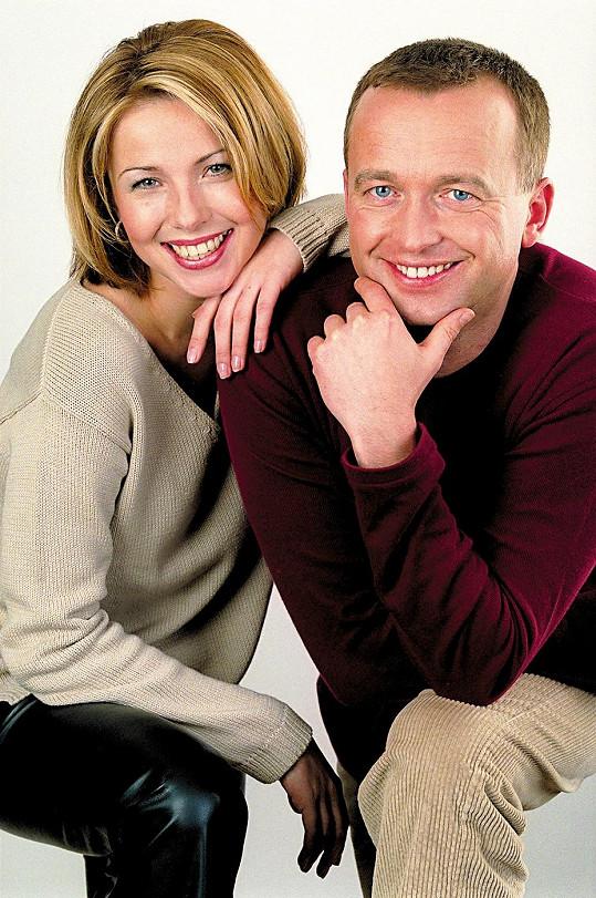 Nicol Lenertová a Karel Voříšek v době, kdy moderovali Televizní noviny.