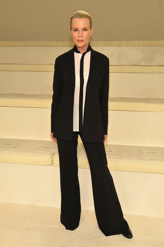 Kim Basinger na přehlídce Ralph Lauren
