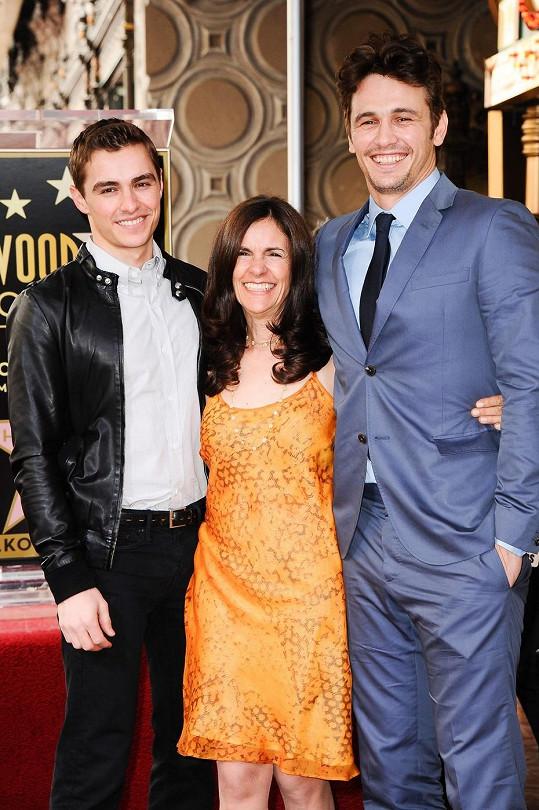 James Franco s bratrem Davem a matkou Betsy
