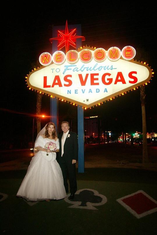 Svatba proběhla v Las Vegas.