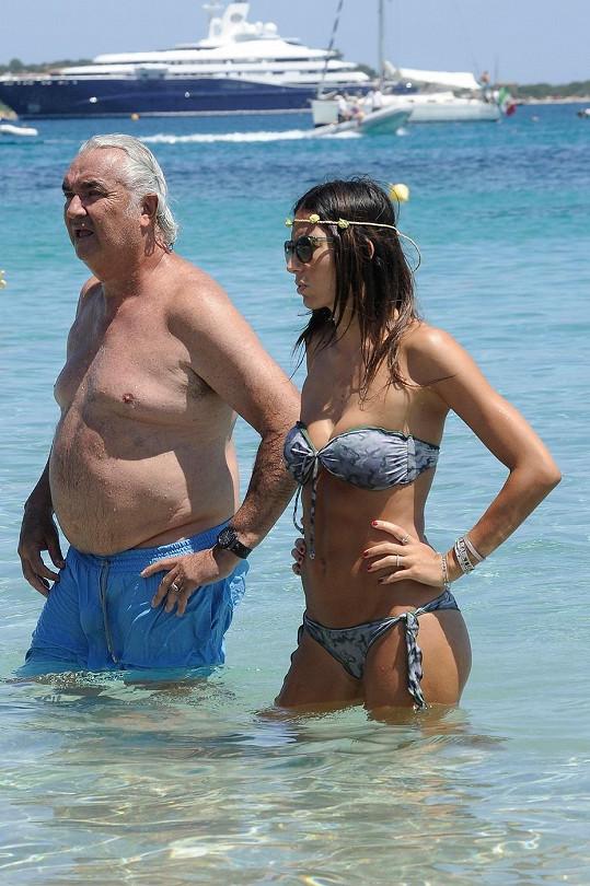 Flavio Briatore a jeho o 30 let mladší manželka