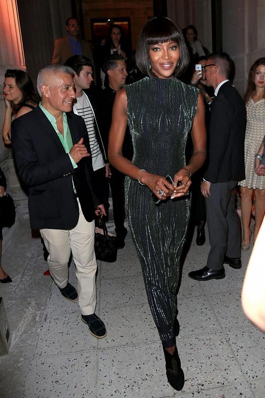 Naomi Campbell si nenechala ujít otevření muzea Palais Galliera v Paříži.