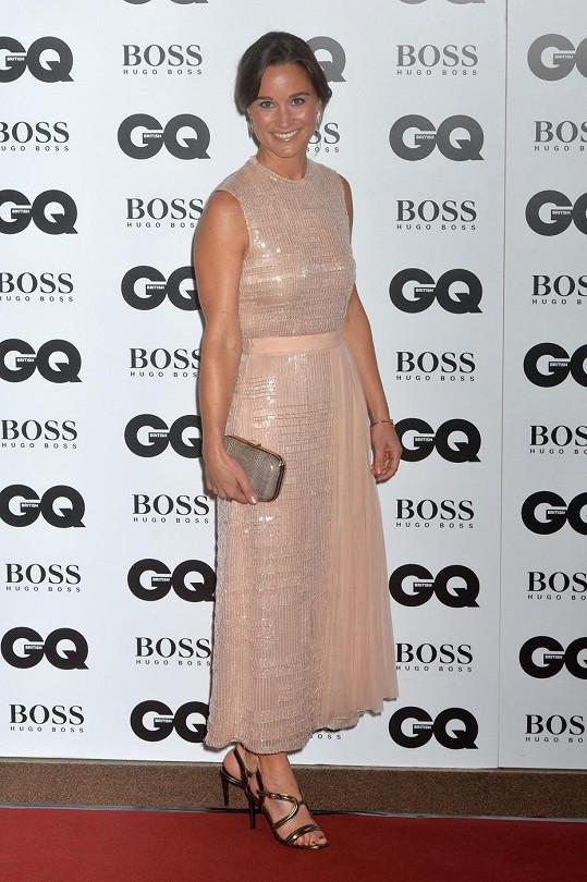 Pippa Middleton na cenách Muž roku časopisu GQ