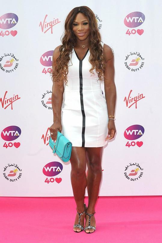 Serena Williams na párty pořádané k nastávajícímu Wimbledonu.