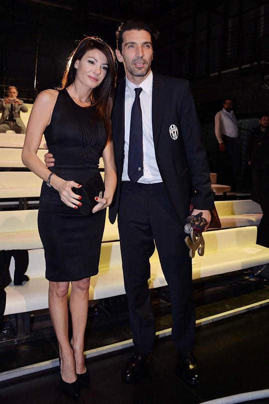 Gigi Buffon a Ilaria D´Amico se poprvé oficiálně objevili na veřejnosti.