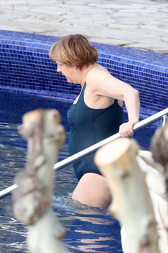Angela Merkelová vyzkoušela termální lázně.