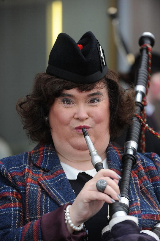 Susan Boyle si zahrála na dudy.
