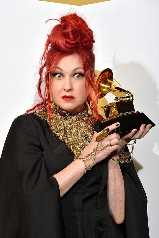Cyndi Lauper na letošním udílení cen Grammy
