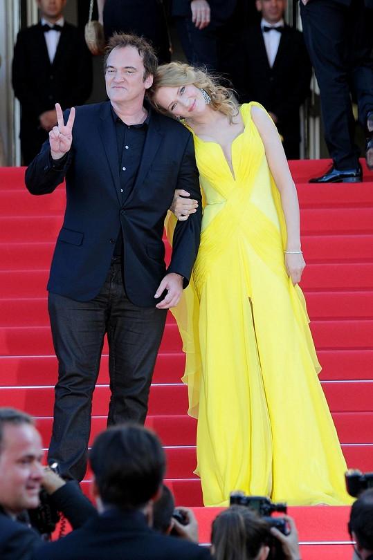 Letos se Quentin a Uma v Cannes objevili ruku v ruce.
