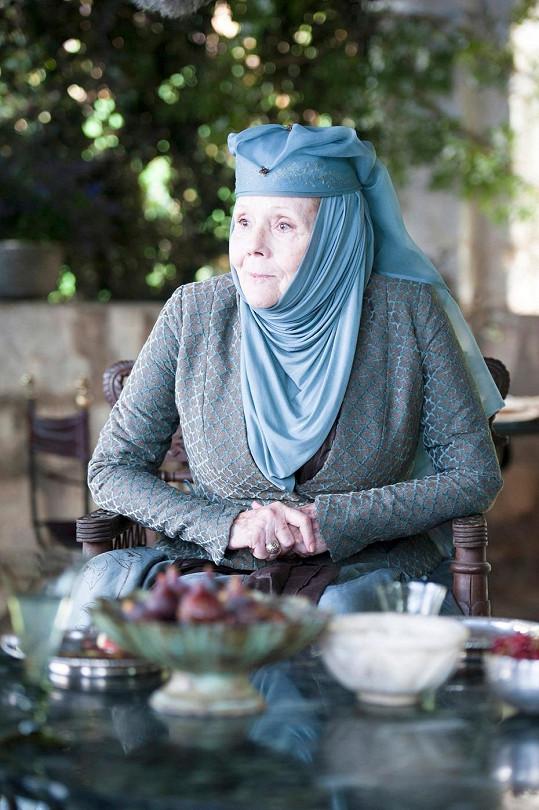 Diana Rigg v seriálu Hra o trůny