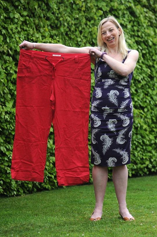 Tracey se dnes svým dřívějším kalhotám jen směje.