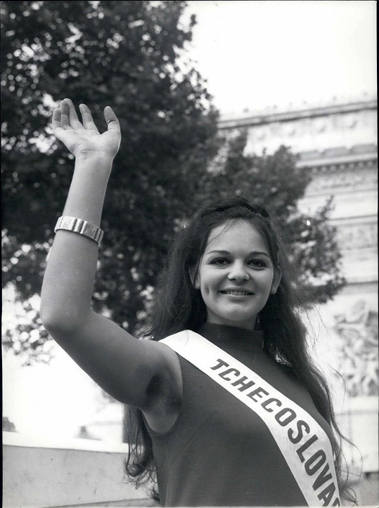 Alžběta Štrkulová jako Miss Československa 1967