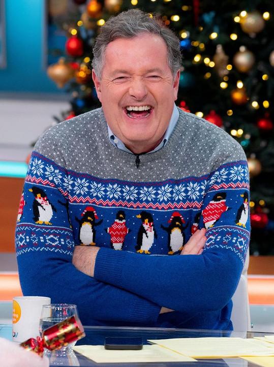 Piers Morgan si nebere v hodnocení celebrit servítky. A to ani živém vysílání jedné z nejsledovanějších ranní show v Británii.