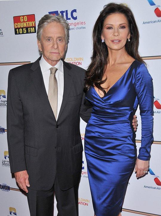 Catherine Zeta-Jones s manželem Michaelem Douglasem