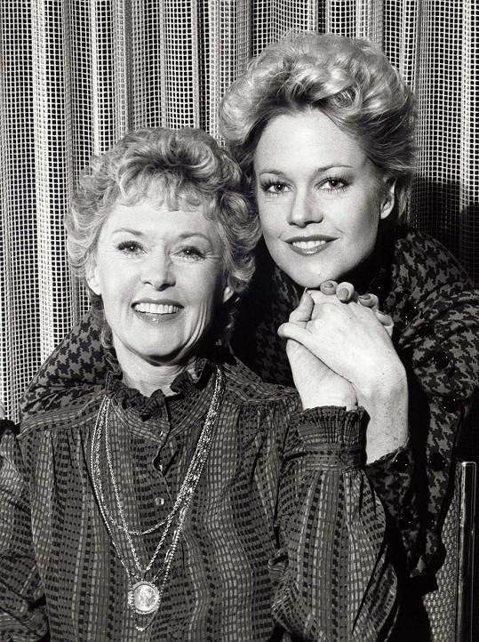 Se svou mámou, herečkou Tippi Hedren, v roce 1985