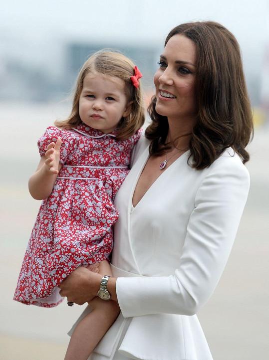 Kate s rozkošnou dcerkou Charlotte