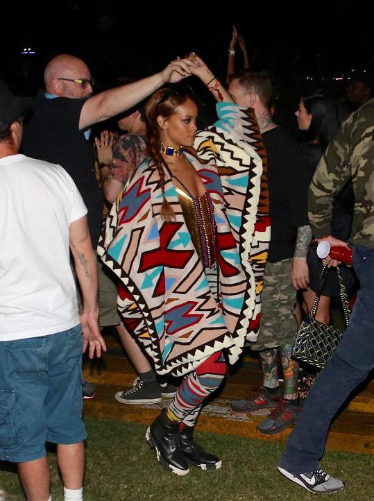 Rihannin ohoz na festival Coachella.