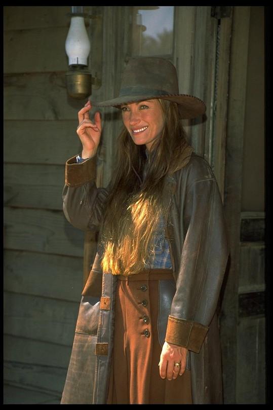 Jane Seymour jako doktorka Quinnová v roce 1996