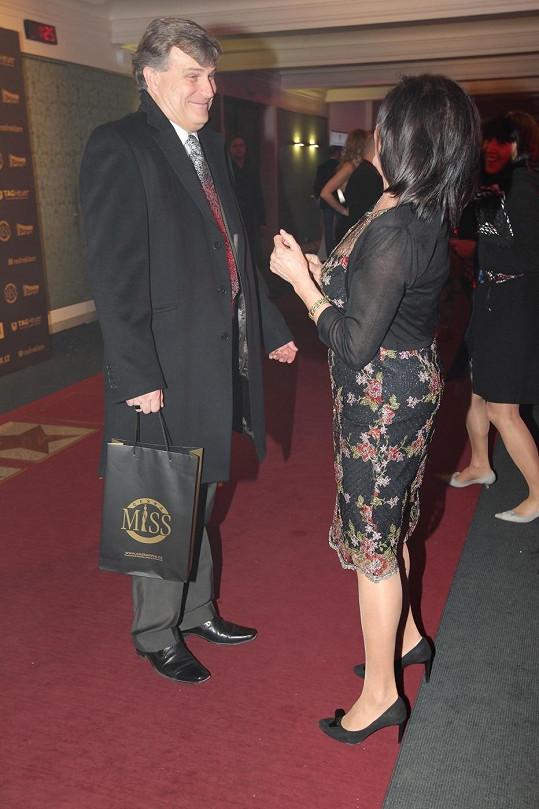 Marie Rottrová a její partner Milan Říha.