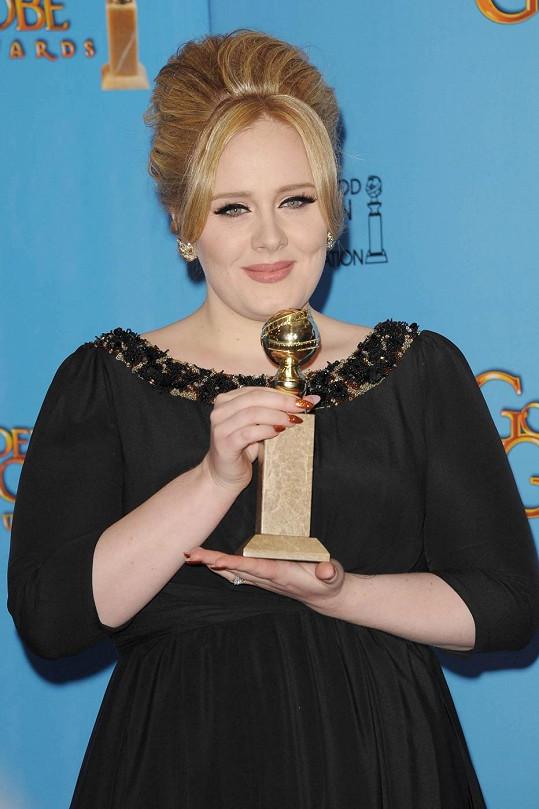Adele získala Zlatý glóbus.