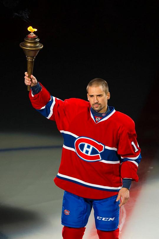 Tomáš Plekanec v dresu Montrealu Canadiens