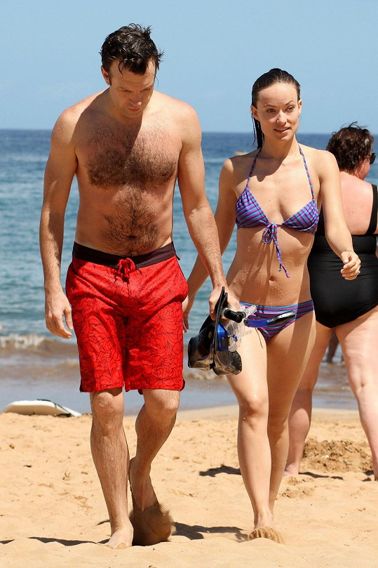 Olivia se snoubencem Jasonem Sudeikisem