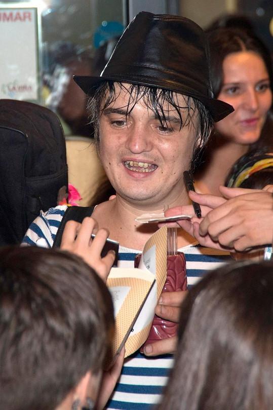 Pete Doherty po pondělním koncertu v Madridu