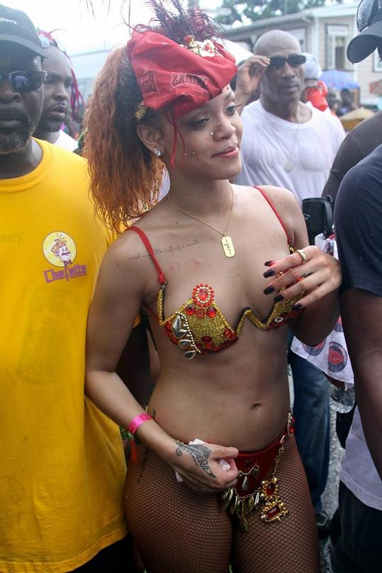 Rihanna na festivalu před dvěma lety