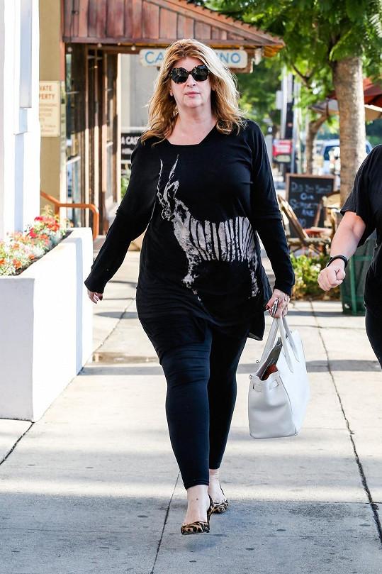 Kirstie Alley už se možná blíží váze, kterou měla před soutěží Dancing With The Stars.