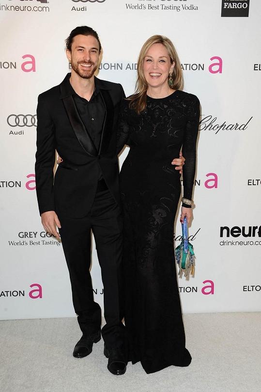 Sharon Stone se svým bývalým přítelem Martinem Micou.