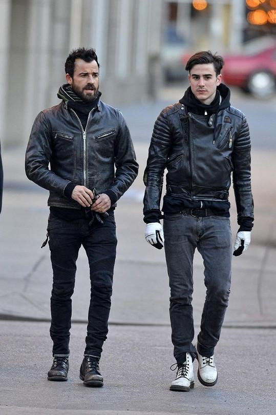 Justin Theroux s bratrem Sebastianem
