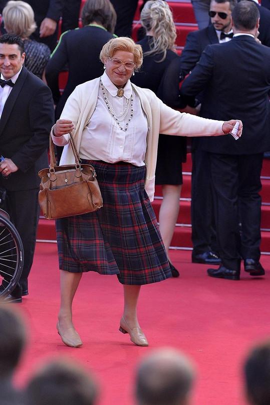 Robin Williams na premiéře Clouds of Sils Maria ve filmovém převleku