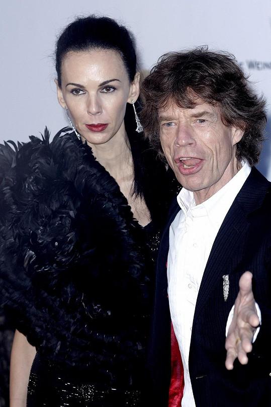 Mick Jagger se zesnulou přítelkyní L'Wren Scott