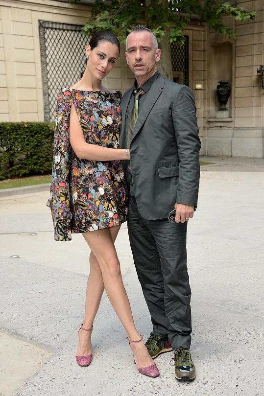 Marica Pellegrini s Erosem Ramazzottim zavítali na přehlídku značky Valentino.