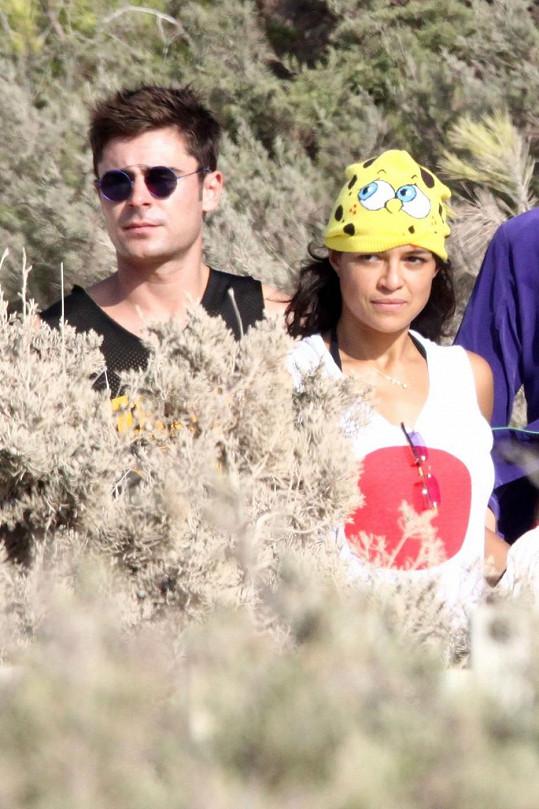 Srandistka Michelle se Zacem Efronem zase dovolenkují.