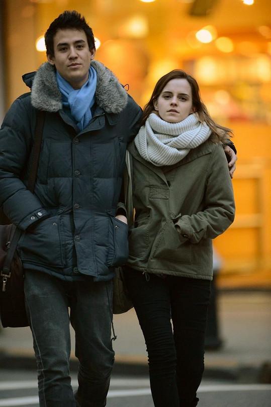 Emma Watson s přítelem Willem v New Yorku.