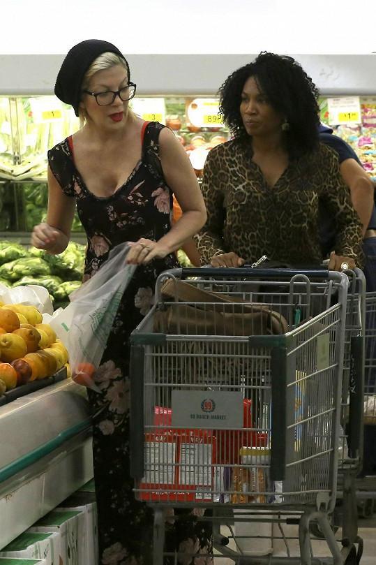 Tori Spelling vyrazila na nákupy.