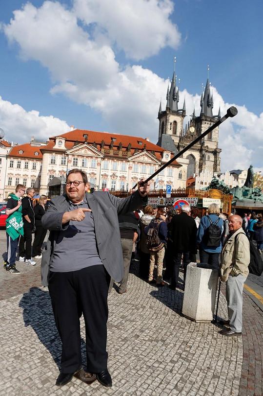 Ottfried Fischer na Staroměstském náměstí