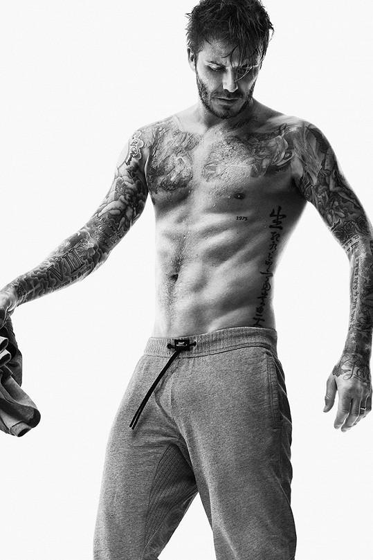 Beckham focení reklam miluje.