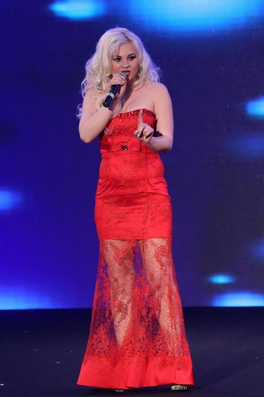 Ivanna Bagová během vystoupení v Karlových Varech