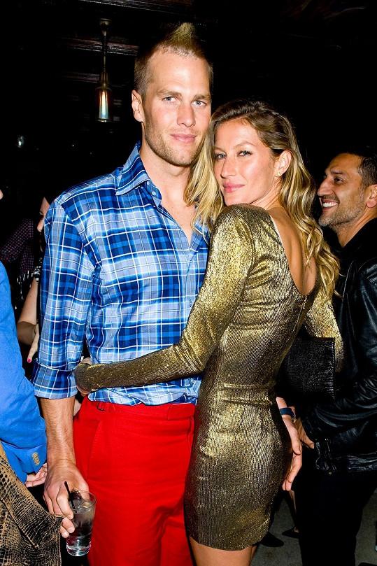 Gisele měla na párty manžela Toma Bradyho.