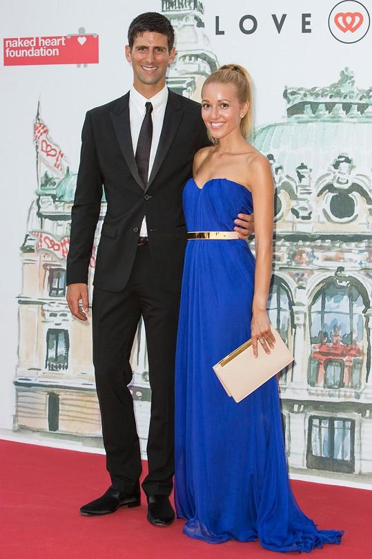 Novak Djokovič se svojí krásnou snoubenkou Jelenou Ristič